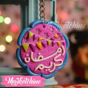 Keychain-رمضان كريم -Foushsia