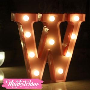 Decorative Letter W-Pink