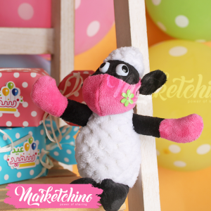 Keychain-Sheep With Pink Mask