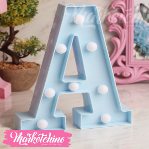 Decorative Letter A- Baby Blue