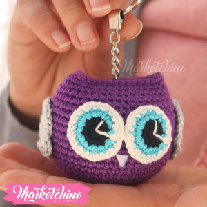 Keychain-Owl-Purple