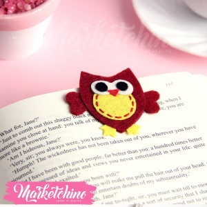 Bookmark Owl-Maroon