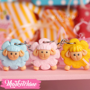 Keychain-sheep-Polymer Clay(set of  3  )