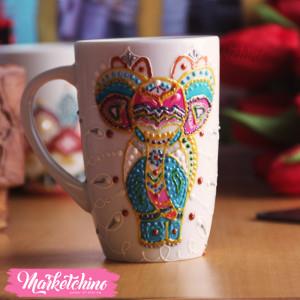 Painted Mug Mandala-Elephant