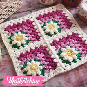 Table Mat-Crotchet-Colorful