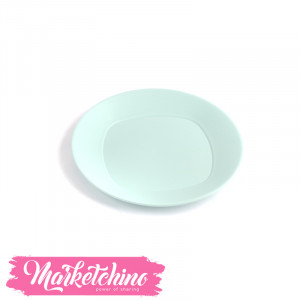 Bager Plastic service  Plate -Baby Blue 2(Medium)
