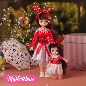 Doll-Dress-Red (set of  2 )