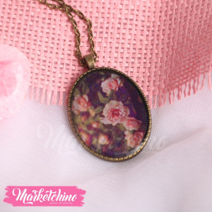 Necklace-Flower-Pink