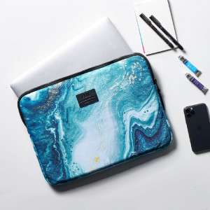 LapTop Cover-Blue Marble-15.6 Inch