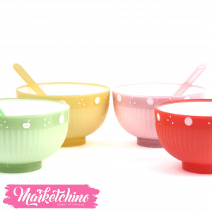 Set of Jelly Bowl ( set of 4 bowls / 4 spoons )