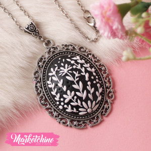 Necklace-Polymer Clay-Black&White