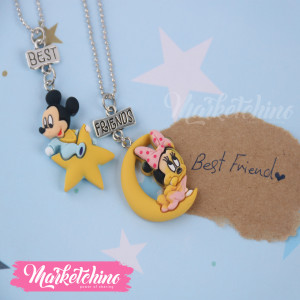 Necklace -Mickey Mouse (Set Of  2 )