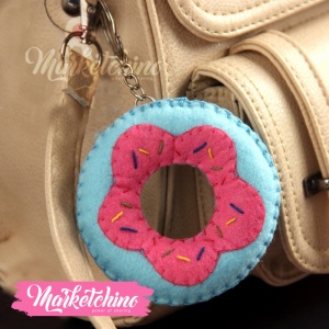 Keychain Donuts-Light Blue