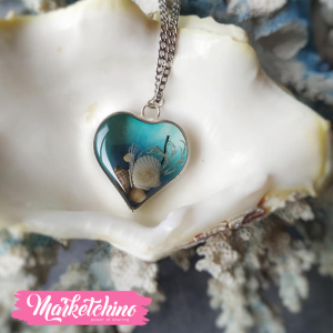 Necklace-Sea Heart Pendant-Resin