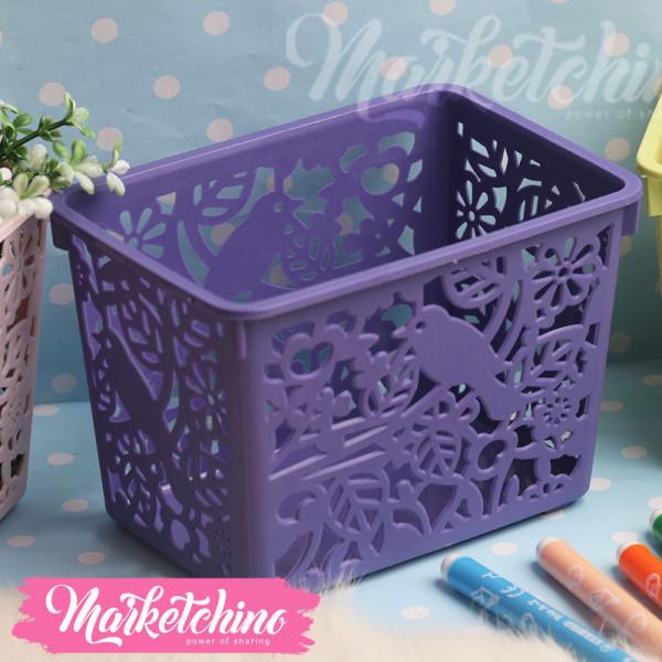 Plastic Basket-Purple