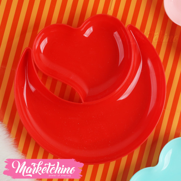 Plastic-Heart OF Nuts-Red