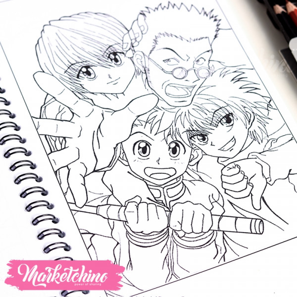 Anime Coloring book&Coloring Pencils