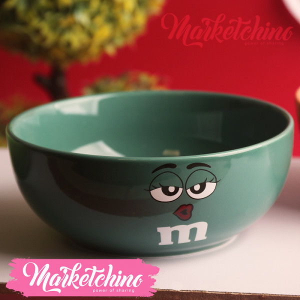 Ceramic Bowl-M&M'S-Green2-Small