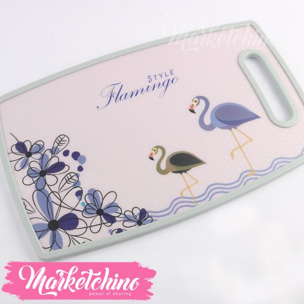 Plastic Cutter Board -Flamingo-Purple