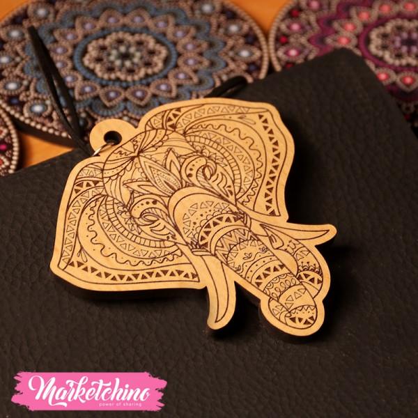 Car Charm-Mandala-Elephant