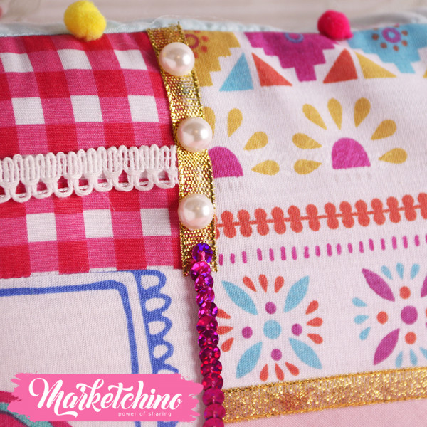 Cushion-Patchwork-Colorful