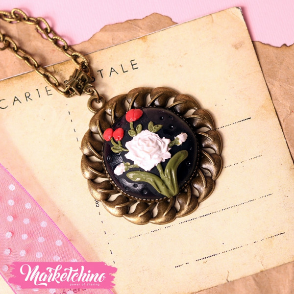 Necklace-Polymer Clay-Black