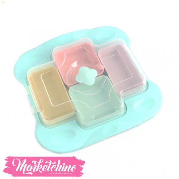 ٍSun Cook Set of Plastic-Food Storage -Baby Blue