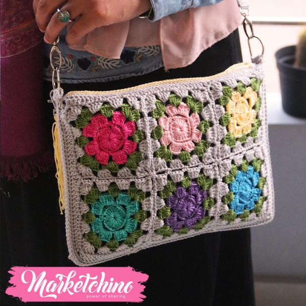 Cross Bag-Crochet-Colorful