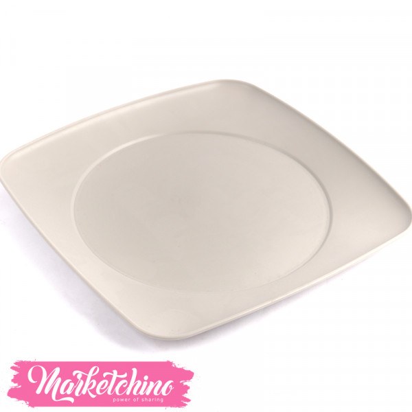 Bager Plastic Service Plate-Beige (Large)