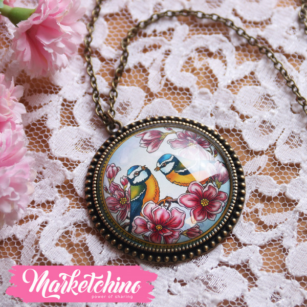 Necklace-Flower&Bird