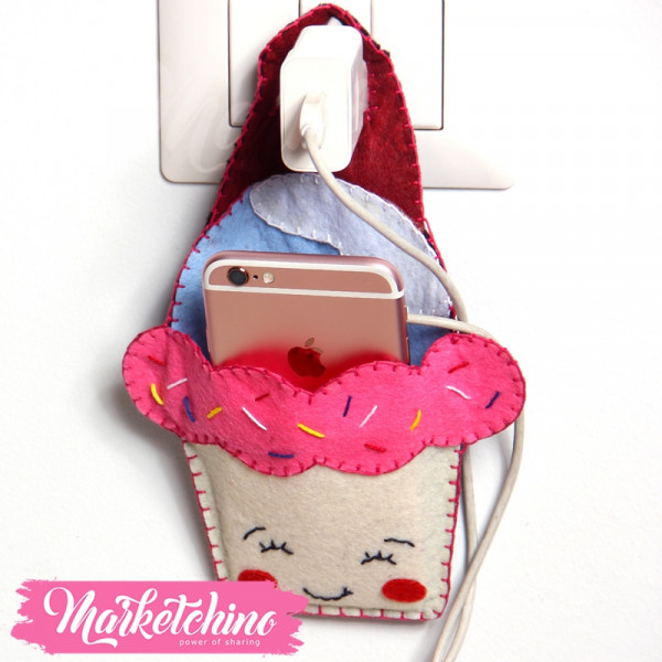 Mobile Holder Cup Cake-Pink