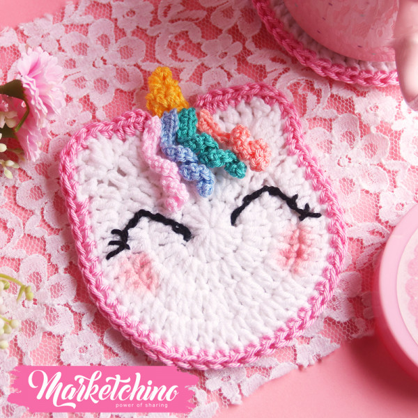 Coaster-Crochet Unicorn