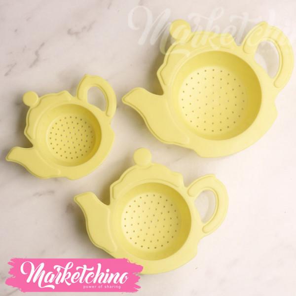 Plastic Filter-Tea pot-Yellow (set of 3)