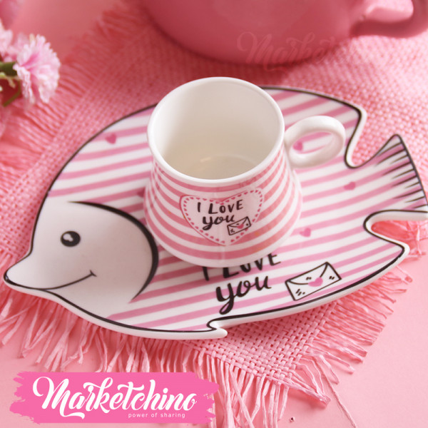 Cup & plate Fish