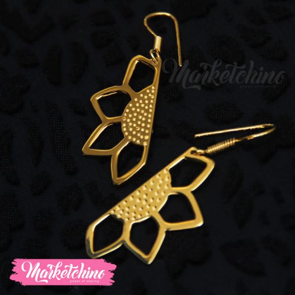 Earring-Flower-Gold