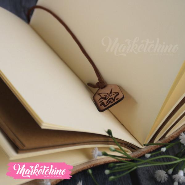 Leather Sketch Book-قد تعاهدنا علي السير معا