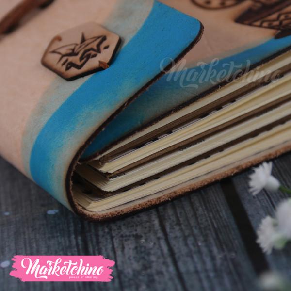 Leather Sketch Book-Cactus
