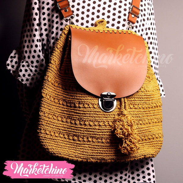 Back Pack Crochet-Yellow