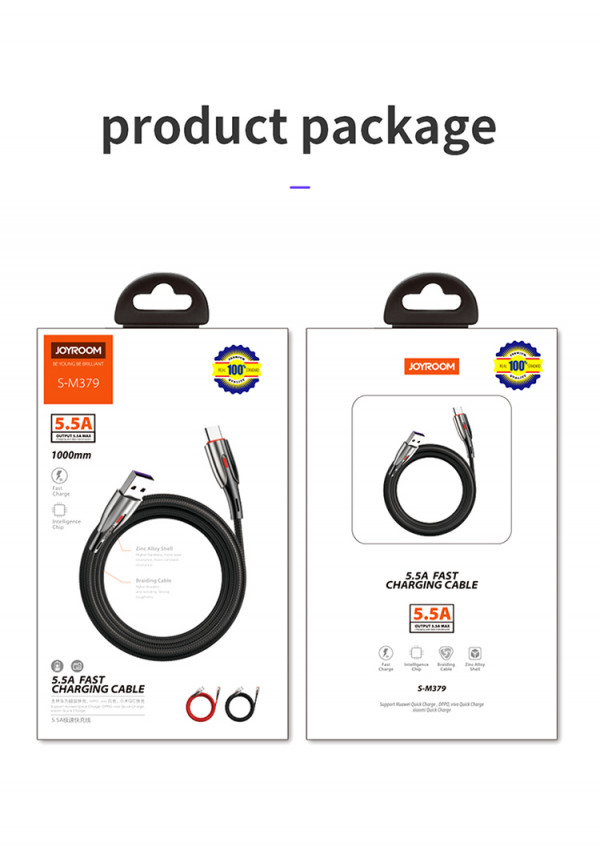 JoyRoom-5.5A Supper-Quick Charging CABLE DATA(S-m379) - Gray (usb type C)