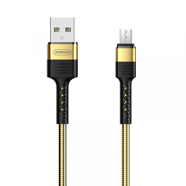 JoyRoom-DATA CABLE(S-M363) (2.4 A)Gold (micro USB )