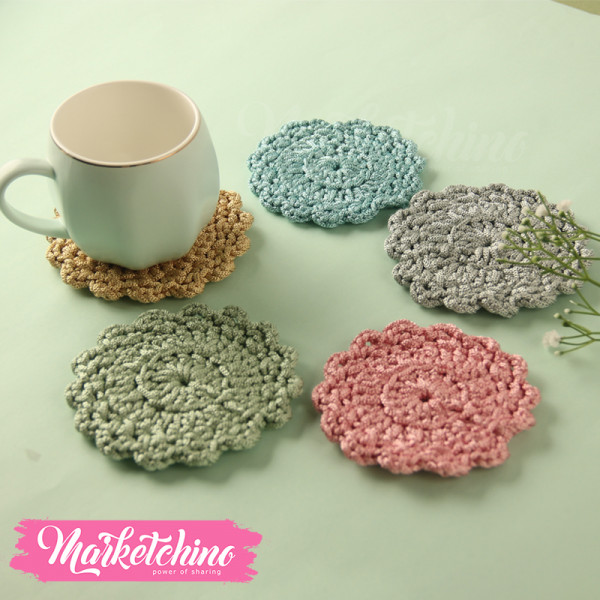 Coaster Crochet-Colorful (Set OF 5 )
