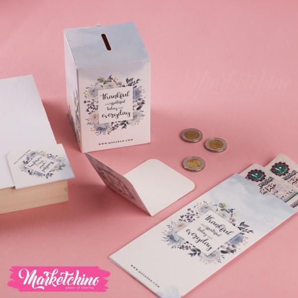 Paper Piggy-Flower-Gray