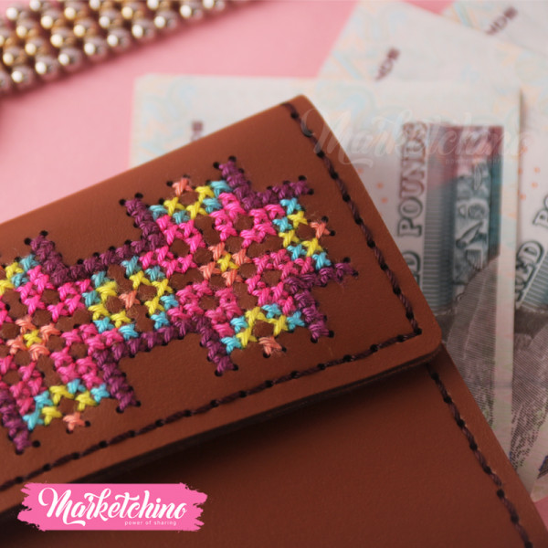 Leather Wallet-Ponto Cruz